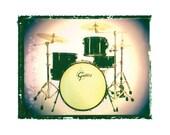 Gretsch Drum set drummer music art print music gift rock n roll art music room decor guitar gift man cave art