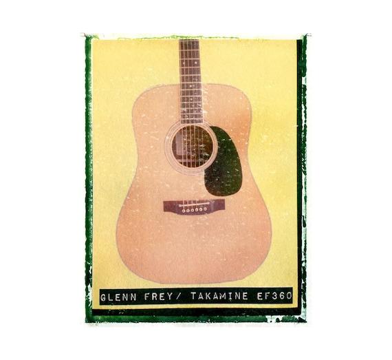 eagles glenn frey guitar art print music gift rock n roll etsy. Black Bedroom Furniture Sets. Home Design Ideas