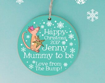 From The Bump Christmas Decoration, Personalised Tree Decoration, 1st christmas bauble, First Christmas Keepsake, New Mum, Mummy's 1st, Baby