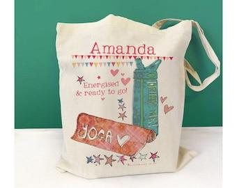 Personalised Yoga Bag | Gift For Yoga Lovers | Yoga Gift | Yoga Themed Gift | Yoga Lovers Gift / Pilates bag / Pilates gift