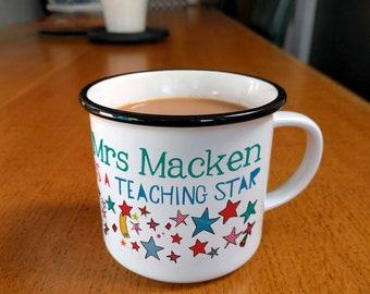 Thank You Teacher Mug, Personalised Mug, star mug, Star, You Are a Star, Teaching Star, coffee mug, mugs, ceramic mugs, teacher gift