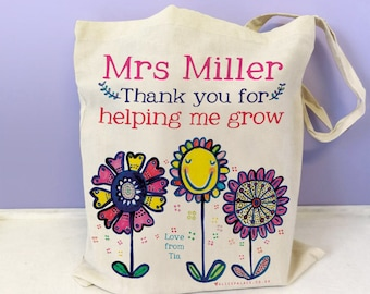 Teacher gift, Bag, teacher thank you tote, thankyou teacher gift, Personalised Best Teaching Assistant Bag, School TA gift, end of term gift