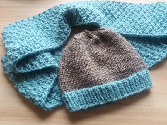 3edaec39f43 Hand knitted baby wool hat Warm hat Unisex hat Knit