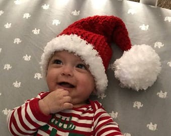 crochet baby hat baby christmas hatbaby santa hat baby boy santa baby girl santa santa christmas infant newborn photo prop