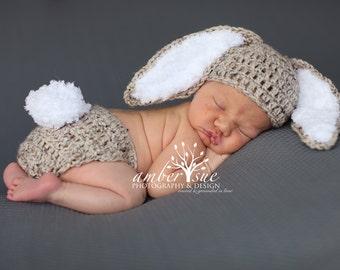 Baby Hat Bunny Rabbit Ears Photo Prop baby bunny oufit Easter bunny set  crochet newborn Easter bunny set bd4977326552