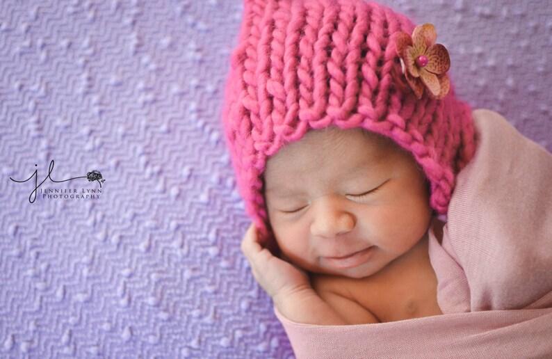 Neugeborenes Baby Mütze Stricken Häkeln Hüte Kleinkind