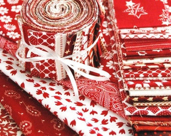 Jelly Roll - Red and White - 20 strips