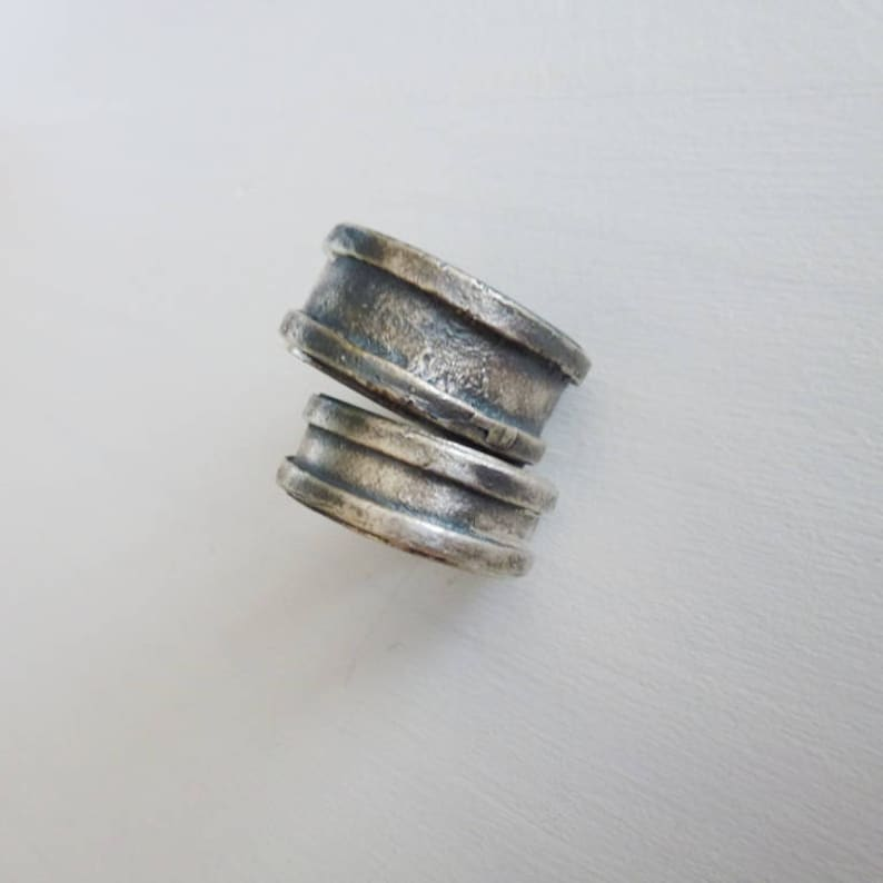 men/'s and women/'s band wedding sets Wedding ring Ring for Men Silver Wedding band Brushed Oxidized Sterling Silver men/'s Ring