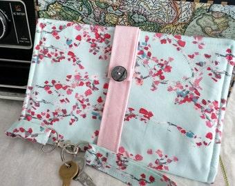 Designer Cotton Travel Wallet/Passport Wallet