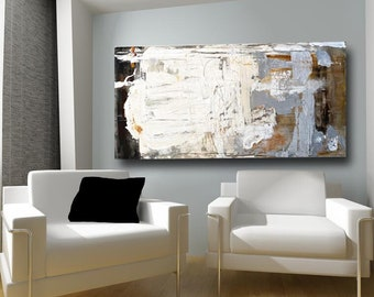 White painting with neutral colors in abstract contemporary style, California style artwork by Cheryl Wasilow