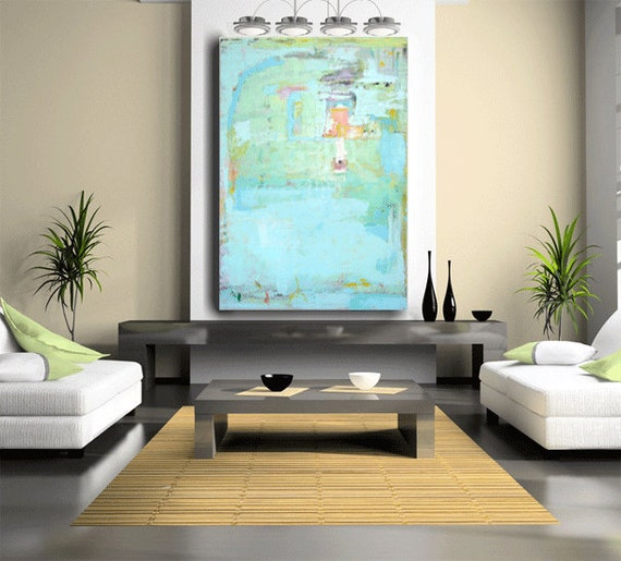 Custom Abstract Original Art Made To Order Huge Wall Decor Contemporary Art Modern Design 60 X 40 Gallery Painting Sophisticated Home Decor