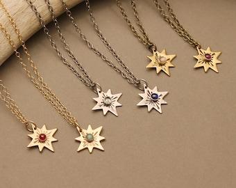 Zodiac star gemstone necklace