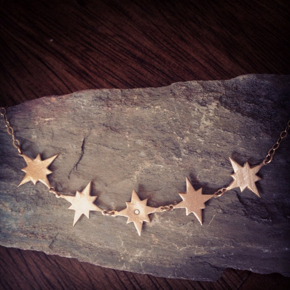 My Stars bronze and gold necklace