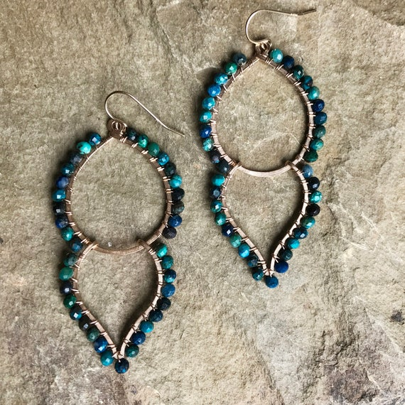 Goddess Earrings in Chrysocolla