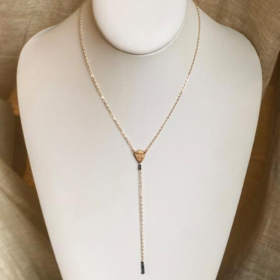 Diamond Shield Y Necklace