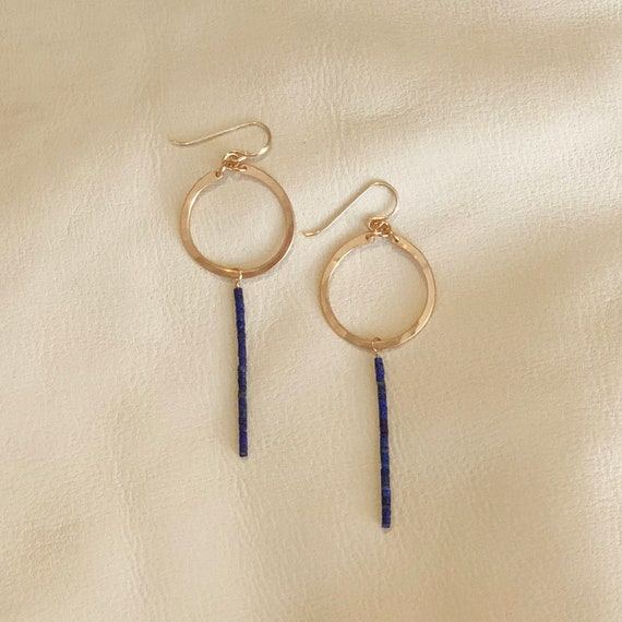 Cleo Earrings in Lapis Lazuli