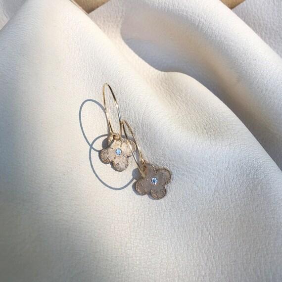 Mini Clover Hoop Earrings