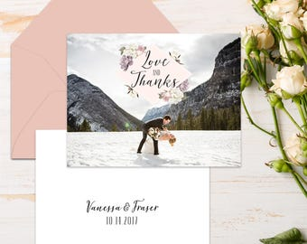 Folded Wedding Thank You Cards {Botanical}