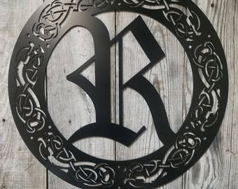 Celtic Border Old English Font Sign Customizable