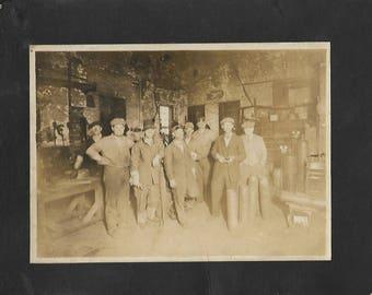 vintage photograph 1920s or 1930s welding shop