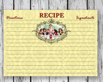 Victorian RECIPE CARDs - Printable Download Images, Paper Craft, Scrapbook. DIY. Print at Home
