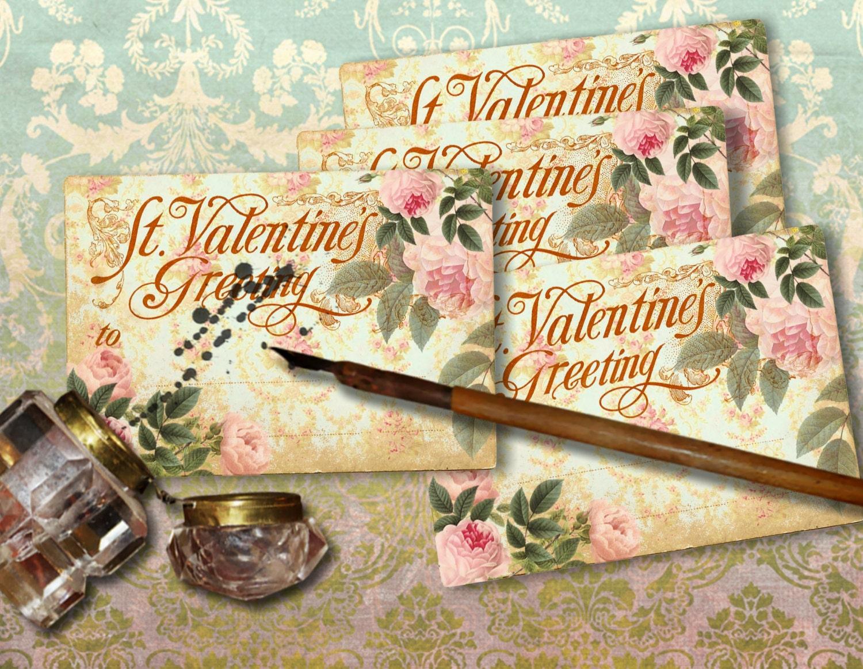 Freebie Free Printable Valentines Greeting Cards Printable Etsy