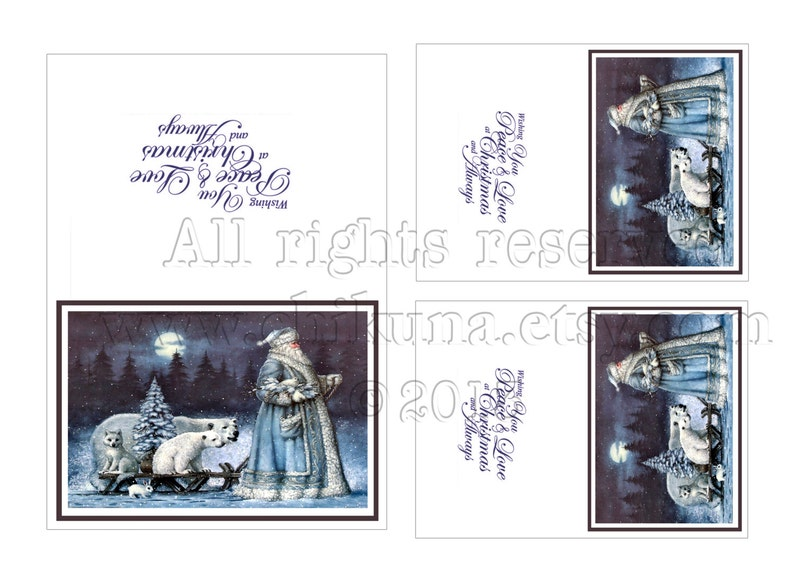 CHRISTMAS with Russian Ded Moroz Printable Invitation   Etsy