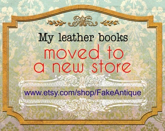 Leather books moved to a new store! Read me please.