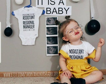 Assistant to the Regional Manager Shirts   Sibling Pregnancy Announcement Shirt   Pregnancy Announcement