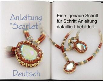 Jewelry Tutorial.... Scarlet ... Halskette Anleitung in Deutsch