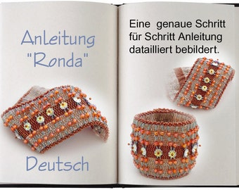 Jewelry Tutorial.... Ronda.. Armband, Anleitung in Deutsch