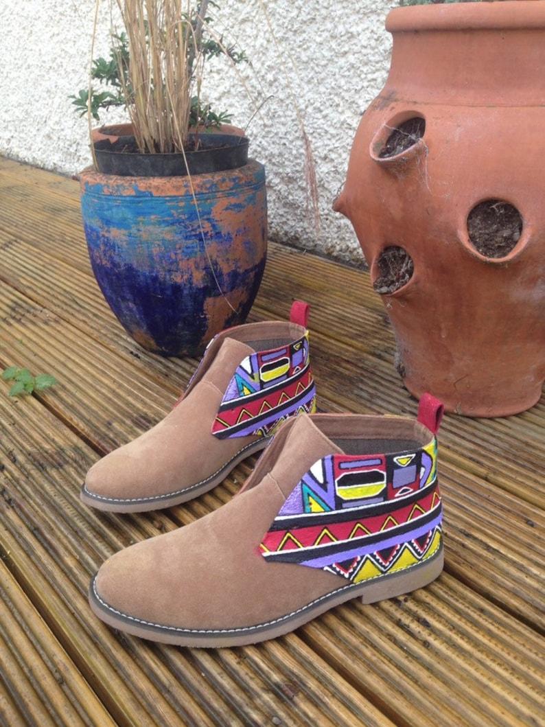 Tribal Desert Boots Men/'s African Boots Chukka Ankara Navajo Ethnic Print Vegan Clothing Men/'s African Clothes Kente Aztec