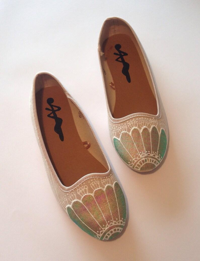 f5d486002e39 Mermaid Shoes Holographic Pumps Metallic Lace work