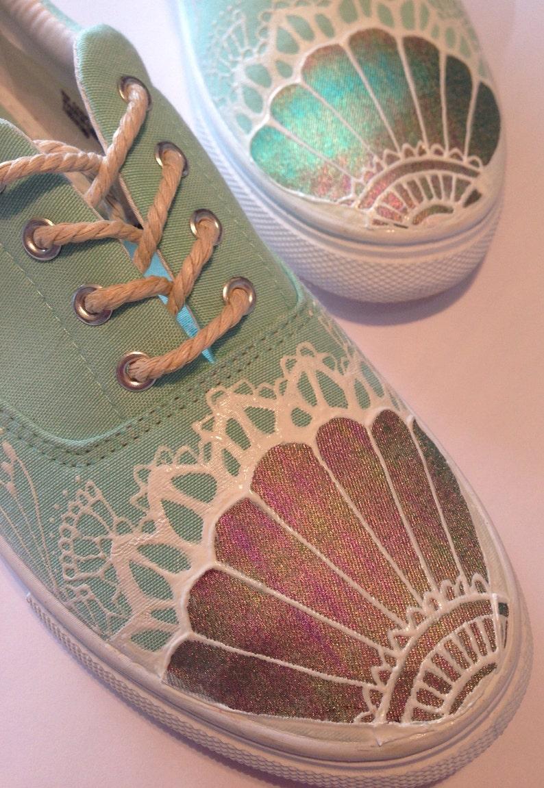 879392906bf8 Mermaid Shoes Mermaid Gifts Holographic Metallic