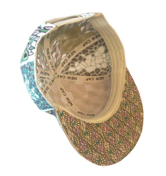 59d9cdec243 White Ethnic Custom Painted Snapback Hat African Print
