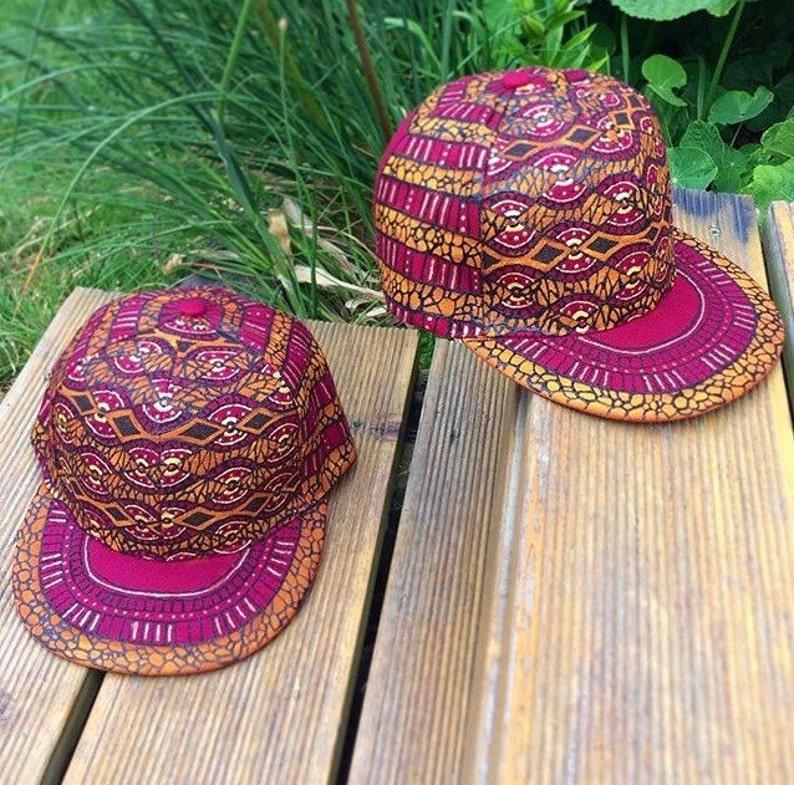 7c52edb7c22 African Print Snapback Maroon Custom Hat Millinery