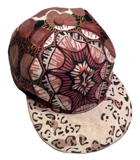 a1ef212d1fa Ethnic Leopard Print Snapback Cap Custom Snapback Hand