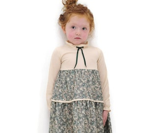 Girls Dress, Girls Vintage Dress, Girls Fall Dress, Little Girls Dress, Girls Retro Dress