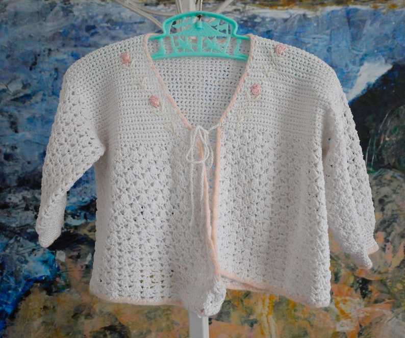 Baby Sweater Vintage Baby Cardigan Baby Girl Cardigan Baby Cardigan