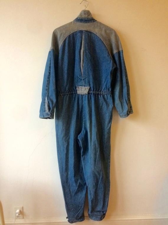 Sale! 80s Bill Blass Denim Corduroy Jumpsuit Cover