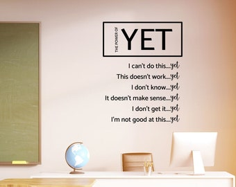 The Power of Yet Vinyl Wall Decal