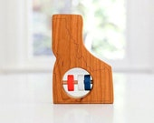 Idaho State Baby Rattle™ - Modern Wooden Baby Toy - Organic and Natural