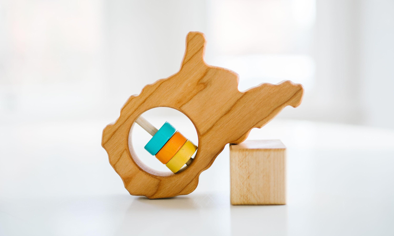 Kansas State Wooden Baby Rattle /™
