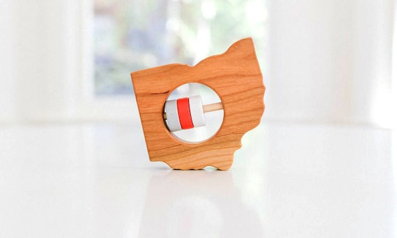 Nevada State Wooden Baby Rattle /™