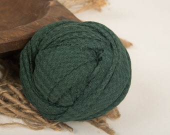 Stretchy Knit Fabric Wrap , Emerald, for Newborn Photography