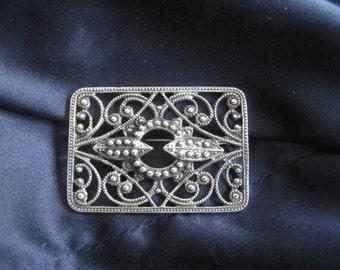 vintage brooch Art Nouveau Silver 925 weight 7 grams excellent condition
