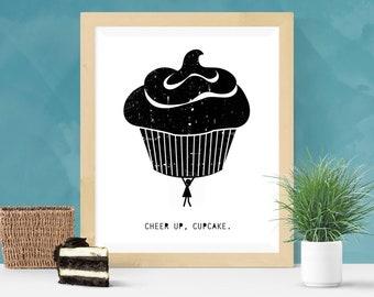 I Love Cupcakes Wall Art Print Design Backpack