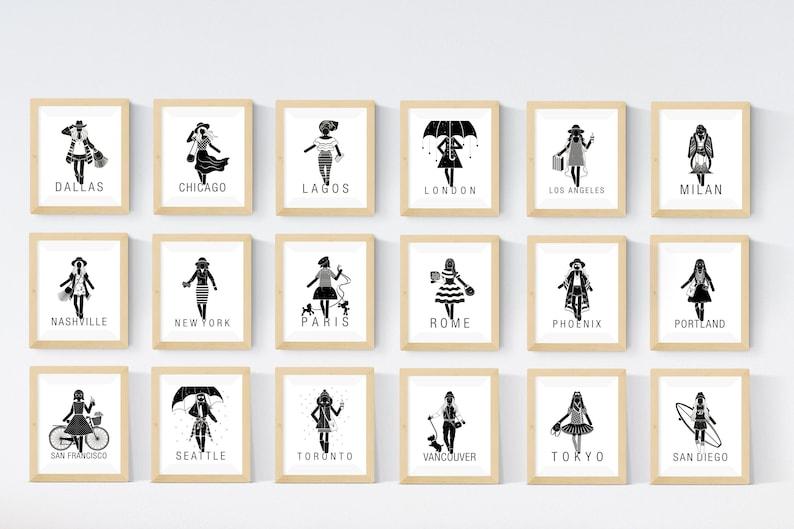 18 printable Set 18 City Print Travel Art Set the future is image 0