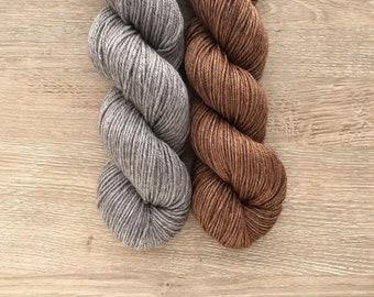 Dye-to-Order - Black Tie DK - SW Merino/Silk/Yak