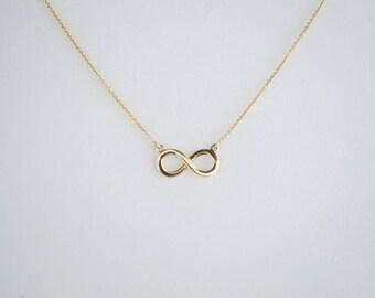 Gold Infinity Loop Pendant